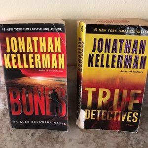 Two Jonathan Kellerman paperback books